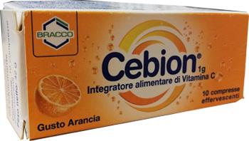 CEBION EFF VIT C ARANCIA 10CPR
